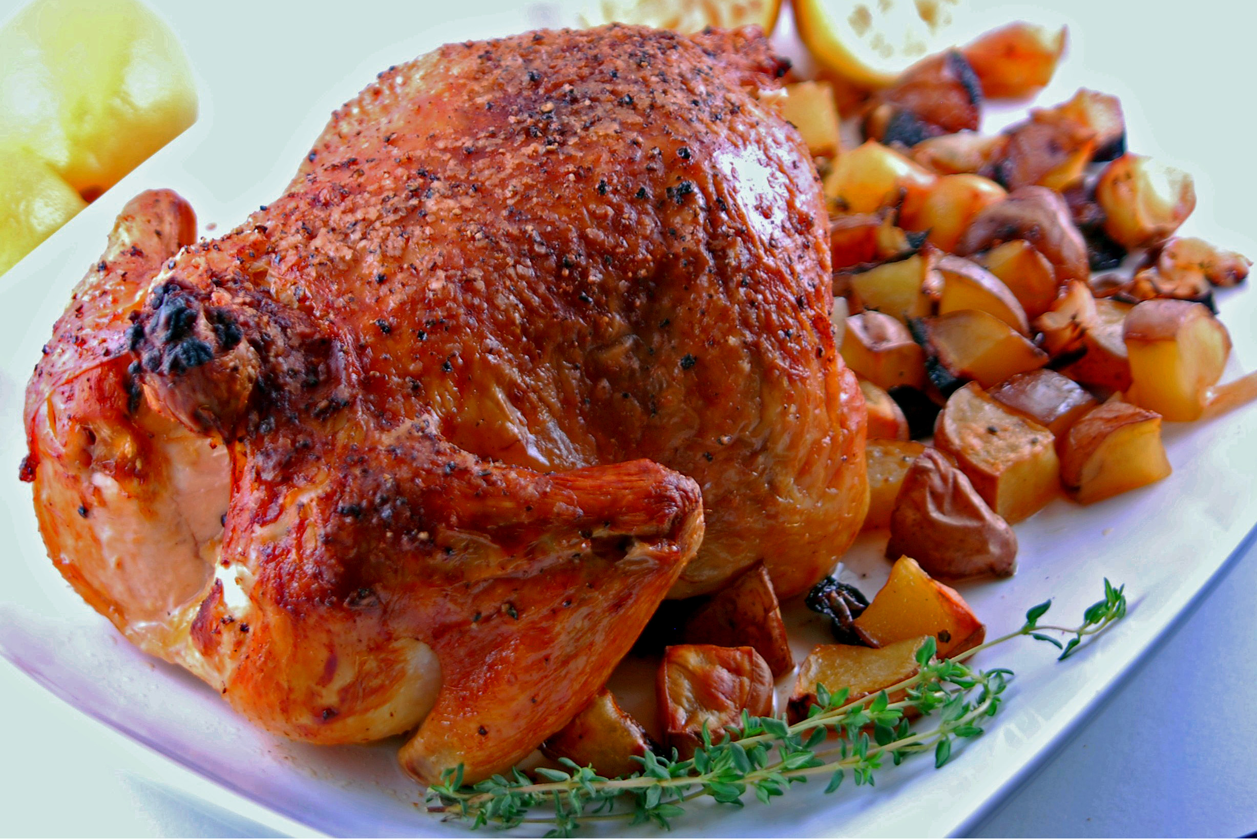 Garlic Roast Chicken | Blissfully Delicious