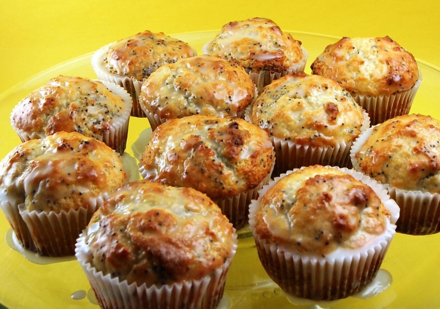 Lemon Poppy Seed Muffins with Lemon Glaze   Blissfully Delicious